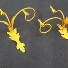 2 Wall Light Wrought Iron Vintage Pair of Lamps Wall CH14 2