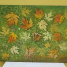 Painting Oil on board Leaves in Autumn Opera of Master Pancaldi of Modena