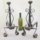 Andirons for Fireplace Antique Wrought Iron Beginning 900 Couple Firedogs