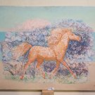 Painting Modern Signed Pancaldi Horse Stylised with the Technical of Frost P24