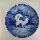 Plate in Ceramic Original Hundeplatte Bowtie Tove Svendsen Denmark R77