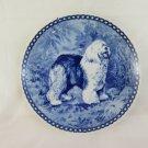 Plate in Ceramic Tove Svendsen Hundeplatte Old English Sheepdog Denmark R77