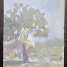 Sketch Painted on Card from the Painter's Gaetano Pancaldi Years Fifty '50 P28.4