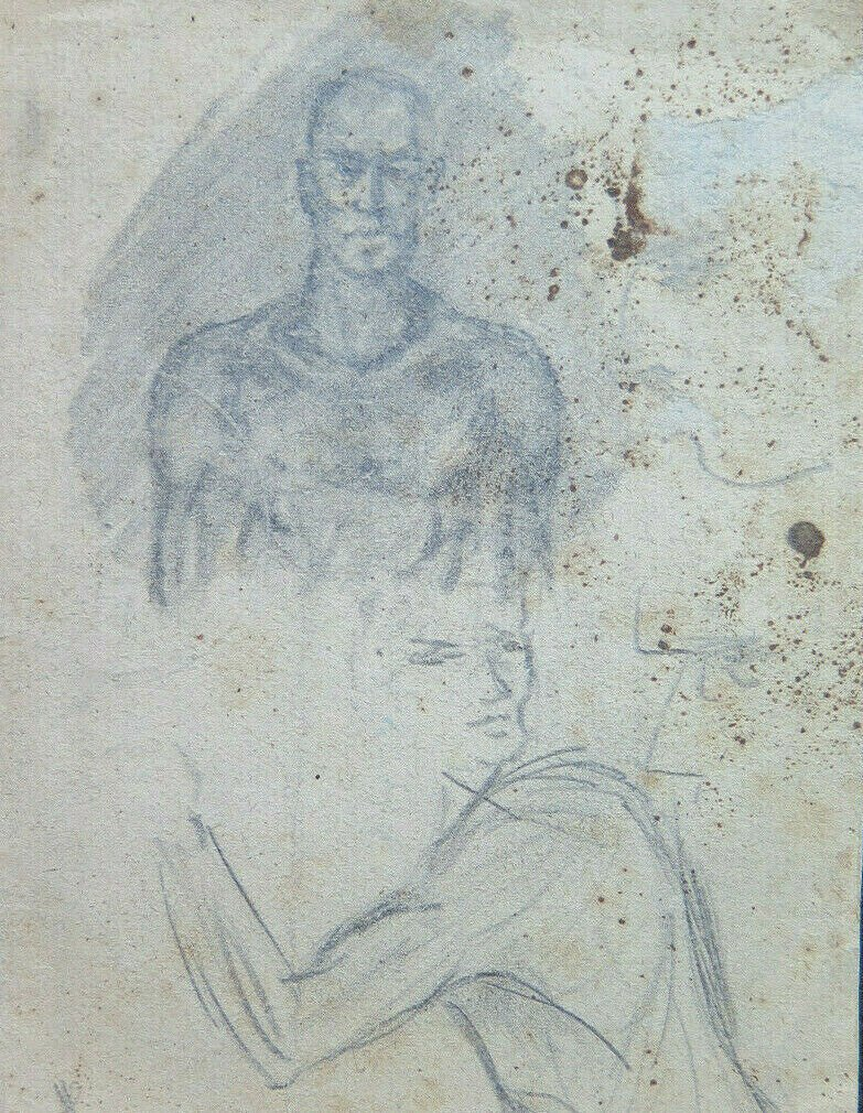 Drawing Antique With Studio For Body Human 1940 1950 Pencil On Basket P28.6