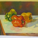 Painting Antique Nature Still Painting On Board Peppers Antique Painting Italy