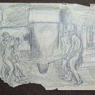 Old Drawing Theme Occupational Of Painter Communist G.Pancaldi