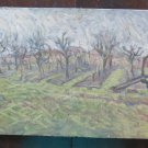 Painting Antique landscape Countryside Painting To oil On Board 1960's p18