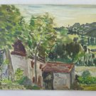 Painting Antique French Signed G.Thevenet Painting oil landscape France BM38