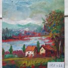Oil On Board Painting Vintage 1960's Painting Period 1960's M