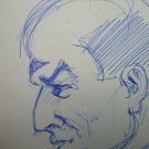 Drawing Antique Pen On Basket Sketch Sketching For Portrait Male 1950 P28