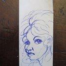 Portrait Designed Pen On Basket Antique Opera Of Painter G.Pancaldi P28.5