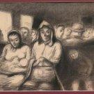 Pierre Eugène Duteurtre Dut 1911-1989 Old Drawing Signed Painting BM51