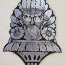 Painting Antique & Engraved A Engraving On Iron Style Floral Blossom CH13 18