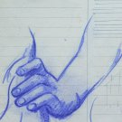 Drawing Antique With Studio For Body Human 1940 About Pencil On Card Hands P28.6