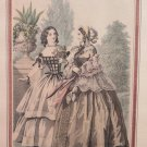 Lithography Antique Fashion Feminine End 800 Journal Of Mode France Warranty G31
