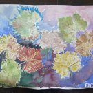 Painting To Artists Watercolour Antique Half' `S Nature Still With Leaves P14