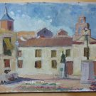 Painting Style Impressionist landscape View Country Spain Vintage '900 MD1