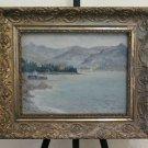 Painting Antique landscape lake Major Painting oil Signed Gagnor BM46
