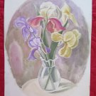 12 3/16x16 1/2in Painting Floral To Watercolour Opera Painter G.Pancaldi