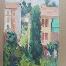 Painting Vintage Of Half 'Twentieth Century View landscape To oil Original p3