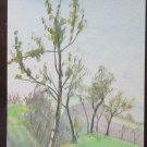 Sketch Painting To Watercolour landscape Signed Painter G.Pancaldi 1952 P28.4