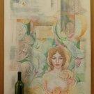 Nude Feminine On Background Abstract Old Painting Opera Painter Pancaldi P35