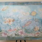 Large Painting Vintage With The Technical Of Frost Fishes Aquarium Sea P29