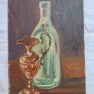 Antique Painting oil On Board Half '900 Twentieth Century Items On Table p11