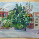 Old Painting Style Impressionist landscape View Country Spain '900 MD1