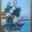 Painting With View Of Venice from The Painter Spanish Vicente Segura MD7