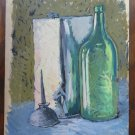 Painting 1960's oil On Board Studio With Items On Table Original p10