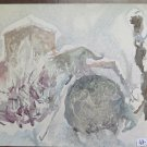Painting To Watercolour Vintage Made With Technical Experimental Of Frost P31