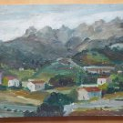 Old Painting oil On Board Vintage Spain Half 900 landscape Countryside MD2