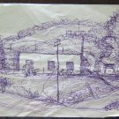 Sketch Antique Drawing Pen On Card Studio For landscape By Country P28.4