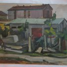 Painting Antique oil On Board landscape Countryside With Certificate p11