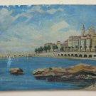 Painting oil View Of Mentone Menton Costa Azure Signed Berthomieu BM45