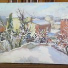 31 1/8x16 1/2in Painting oil Vintage View Country Style Impressionist P20