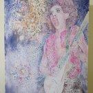 Painting Pop Art Years' 80 Vintage Portrait Rock Guitarist Years '70 Glam P33.6