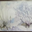 Painting Modern 1960's Made With Technical Experimental Of Frost P31