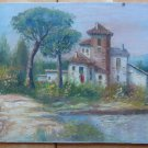 Old Painting Style Impressionist landscape Countryside Spain Signed MD4