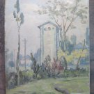 Painting Modern oil On Board Painting landscape Countryside Original Pancaldi p1