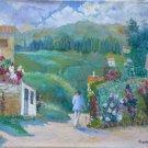 Old Painting Style Impressionist landscape Spring Signed Segura MD3