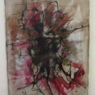 Painting Abstract Vintage Painting oil On Linen Signed Zacharias Years' 80 BM52