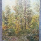 Painting Antique oil On Board landscape Style Impressionist Trees IN Autumn p1