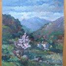 Painting Vintage oil landscape Spain Style Impressionist Signed Segura MD3