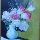 Painting Vintage Floral Painting oil On Board Spain Period '900 Madrid MD4