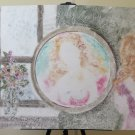Painting Modern Years' 80 Portrait Feminine Xenon Mirror Technical Mixed P33.1