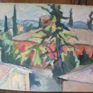 View Dei Roofing Of Piumazzo Painting Antique To oil With Certificate p12