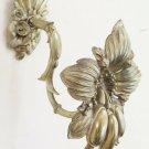 Hook Tie Backs IN Bronze Chiselled Flower Shaped Raccoglitenda CH9