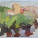 Antique Painting To Watercolour Painting Original landscape Years Fifty 50 p9